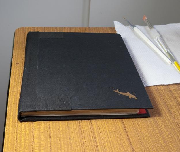 Closed sketchbook